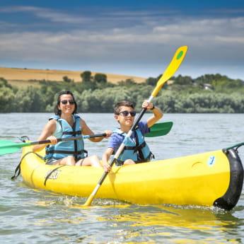 Canoe au lac de Bairon