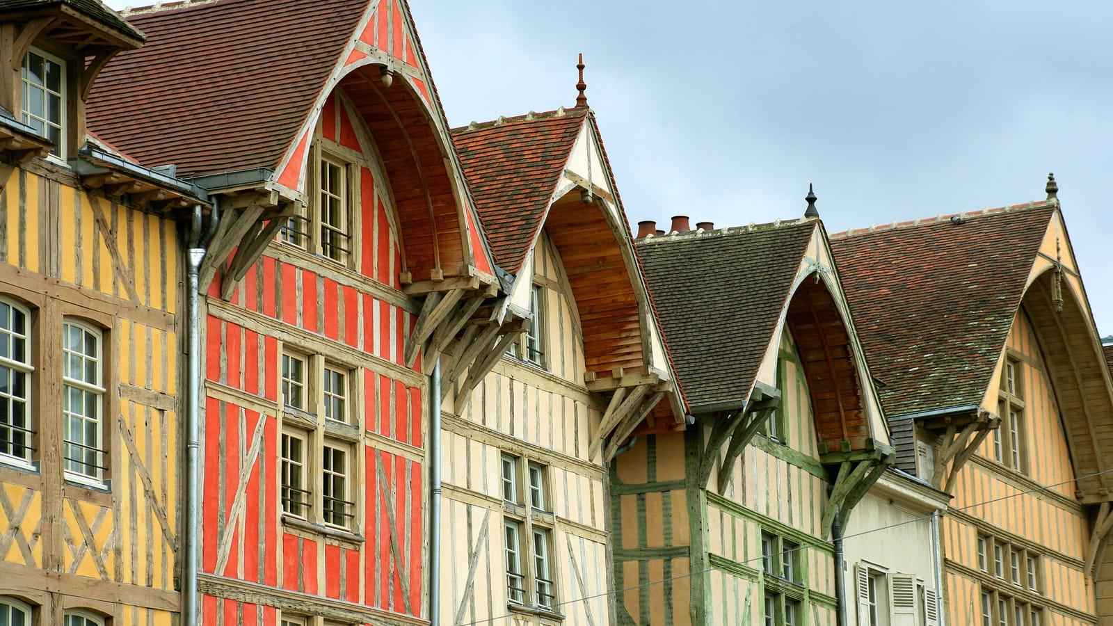 Troyes, maisons pans en bois