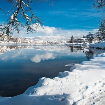 Lac de Gérardmer sous la neige