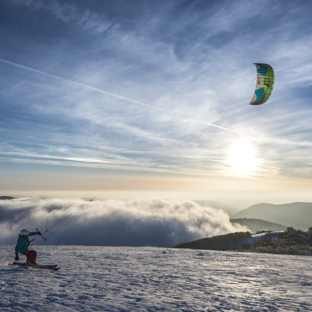 Snowkite au Kastelberg